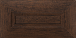 Dark wood modern cabinet doors