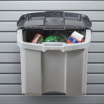 garage trash can