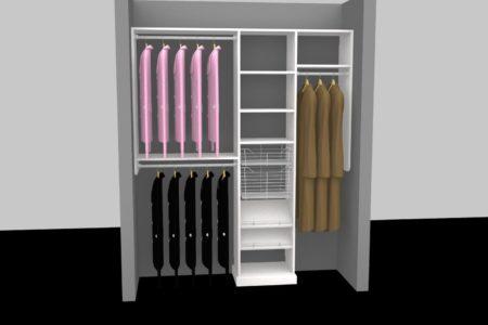entry closet shelves