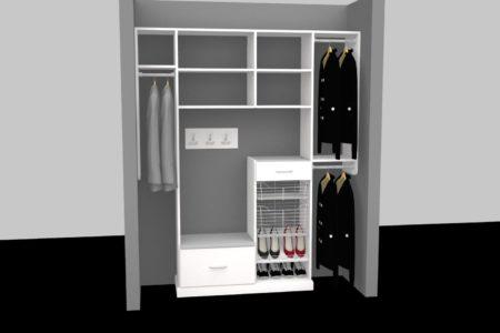 custom front closet organizers