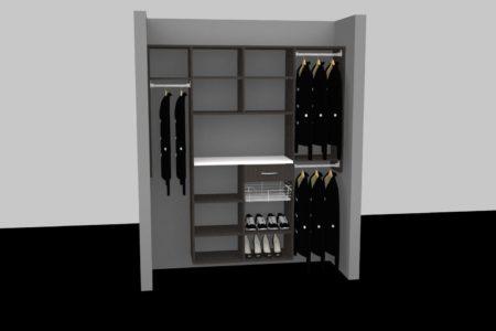 front closet organizers shelves