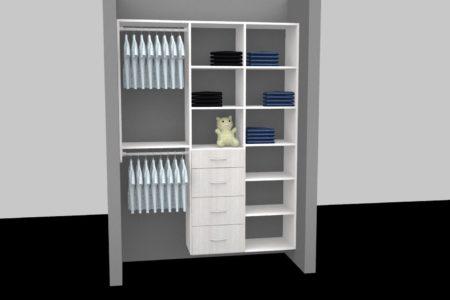 kids closet shelves