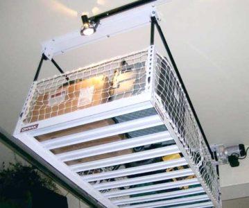 garage overhead storage shelving
