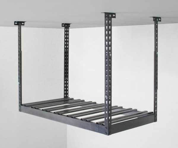 garage overhead storage shelves