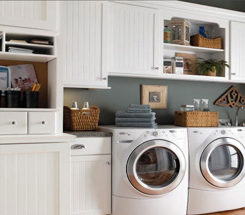 custom laundry room organization