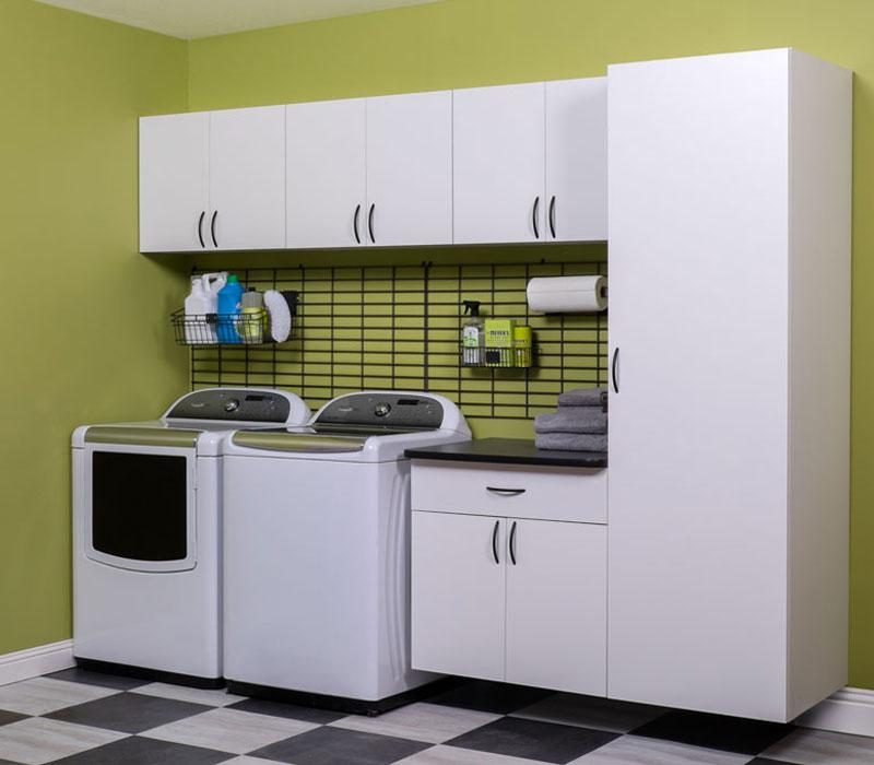custon laundry room storage cabinets