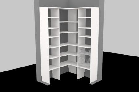 corner kitchen pantry design