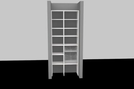 basic kitchen pantry shelves