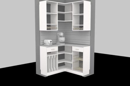 pantry with coffee maker space